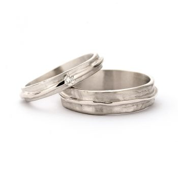White gold wedding rings N° 7